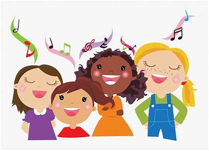 Clipart Choir Animated Songs Assembly Children Singing