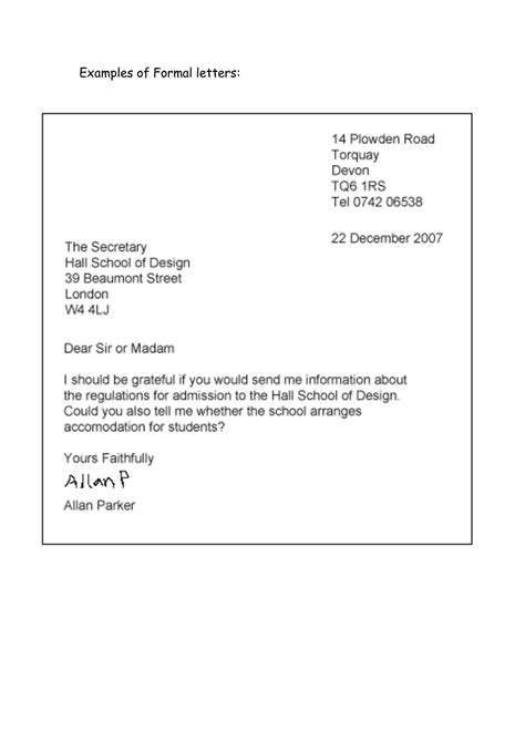formal letter  didactica english pinterest