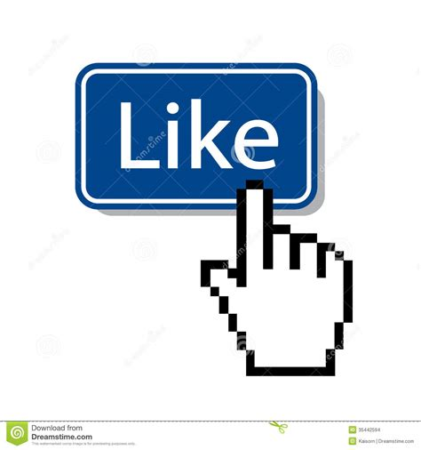 Like.mouse cursor pressing like button Editorial Stock Image