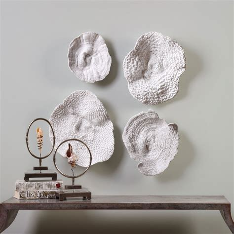 Uttermost Wall Pictures by Uttermost Sea Coral Wall Set Of 4 20170 Bellacor