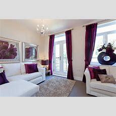 Beige Purple Living Room Design Ideas, Photos