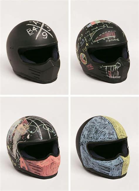 Motorcycle Helmet + Chalkboard Paint  Moto Pinterest
