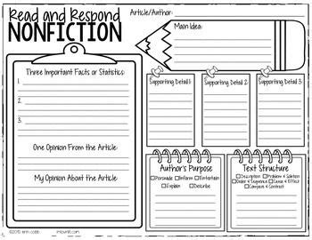 nonfiction graphic organizer smarter than a fifth grader reading lessons 3rd grade reading