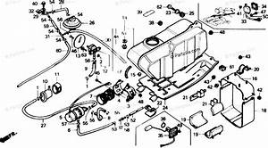 Honda Atv 1988 Oem Parts Diagram For Fuel Tank