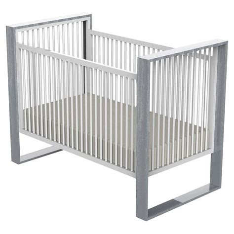 Light Grey Crib by Ducduc Modern White Light Grey Cerused Crib Kathy