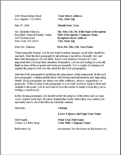 buisness letter template formal business letter formatbusinessprocess