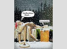 Der Wunschzettel zum Weihnachtsfest Cartoon