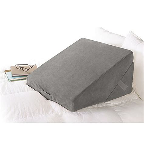 bed wedge pillow brookstone 174 4 in 1 bed wedge pillow bed bath beyond