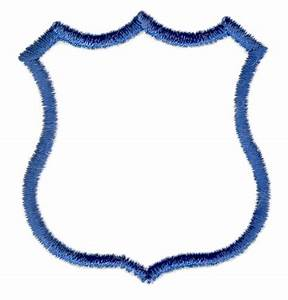 Blank badges clips arts pictures to pin on pinterest for Blank police badge template