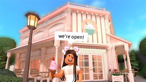 Decals for bloxburg cafe म फ त ऑनल इन व ड य. opening my pink cafe in bloxburg - YouTube