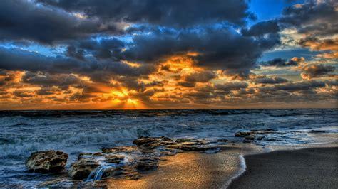 Magnificent Ocean Sunset Hd Wallpaper