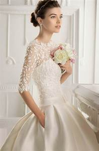 gorgeous short wedding dresses with 3 4 sleeves sang maestro With wedding dress 3 4 sleeve