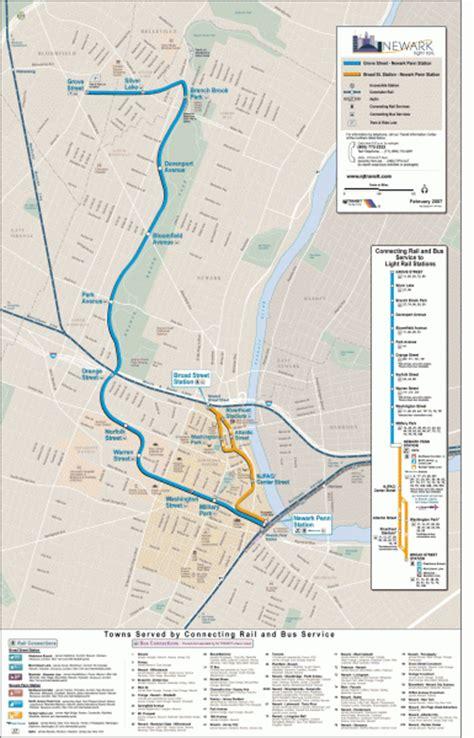 light rail nj map newark light rail system map newark nj mappery