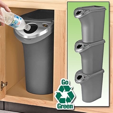 under cabinet trash bins 5 great recycling bins to make living green easier the
