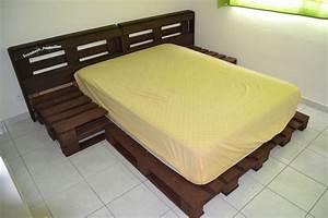 Comment Faire Un Lit En Palette : diy fabriquer un lit en palette de bois cuboak ~ Nature-et-papiers.com Idées de Décoration