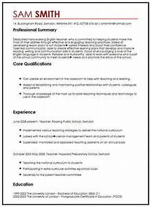 Model Resume Format For Experience Cv Sample In English Myperfectcv