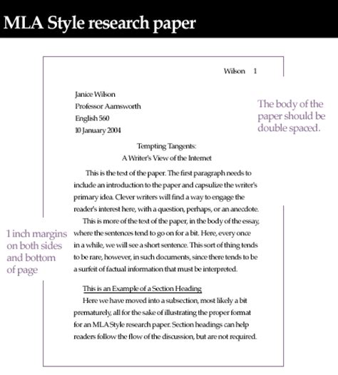 Template Of Mla Research Paper Unit 4  Crwt 102