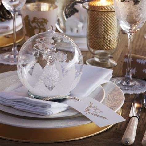 bauble table decorations christmas dining table with crystal bauble place setting traditional christmas decorating
