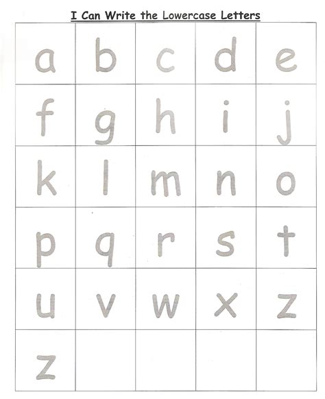 lower case alphabet tracing worksheets preschool lower