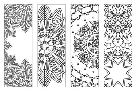 NEW Bookmarks Printable Intricate Mandala Coloring Pages