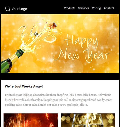 happy  year email templates word excel  formats