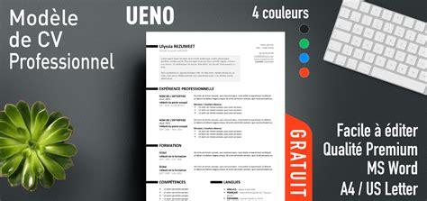 Cv Professionnel Gratuit by Ueno Mod 232 Le De Cv Professionnel