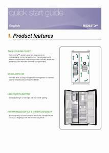 Samsung Refrigerator Rs263td User U0026 39 S Guide