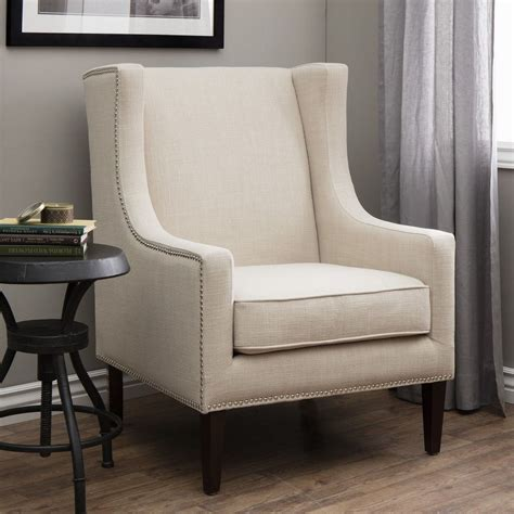 wingback chair high back classic home living room wood