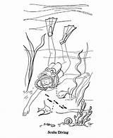 Scuba Coloring Diver Diving Sheets Activity Season Drawing Printable Seasons Activities Designlooter Drawings Farm Monster 820px 95kb sketch template