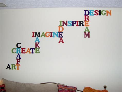 Love wall quote specifics these removable vinyl wall words make a beautiful statement of how vinyl wall art wall decals in this house we vinyl designs wall quotes modern wall decorating tips wall words flower colors. Word Wall Art | Art classroom decor, Word wall art, Art room doors