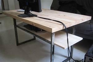 Plateau En Bois Massif : tables basses reactivedesign meubles acier ~ Teatrodelosmanantiales.com Idées de Décoration
