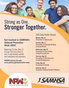 SAMHSA's National Prevention Week 2016 - Promotion of ...