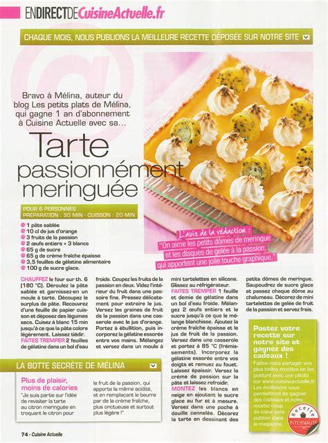 magazine recette de cuisine les petits plats de mélina dans cuisine actuelle ma