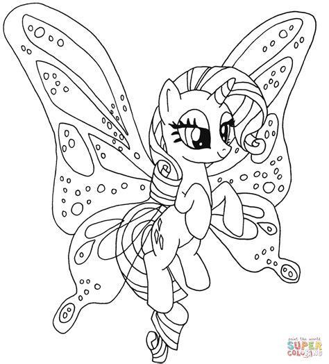 rarity pony coloring page  printable coloring pages