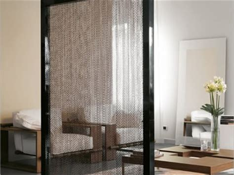 chain link curtain an easy way of room dividers and curved