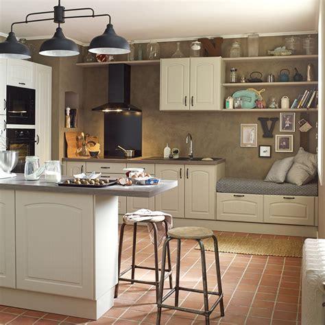 renovation plan de travail cuisine carrelé meuble de cuisine chanvre delinia olé leroy merlin