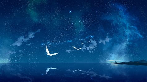 Starry Sky Anime Wallpaper - of universe hd wallpaper and background image