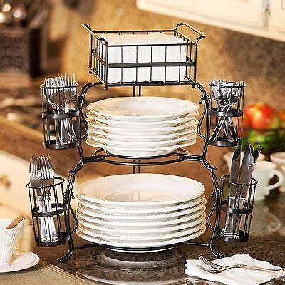 giftburg  piece stackable buffet caddy party spoons forks cutlery holder server kitchen decor