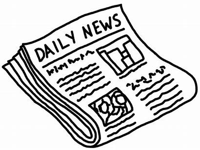 Newspaper Clipart Clip Newspapers Daily Press Magazine