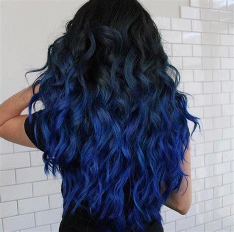 Balckband Blue Ombré Hair Mermaid Hair In 2019 Blue