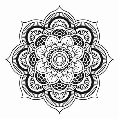Mandala Flower Simple Coloring Mandalas Unique Forming