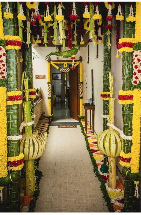 coconut leaf pillars wedding decoration
