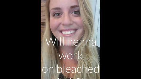Henna Over Blonde Hair Henna On Bleached Hair Youtube
