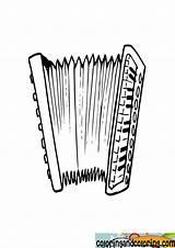 Accordian Coloring Accordion sketch template