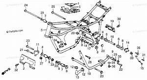Honda Motorcycle 1984 Oem Parts Diagram For Frame