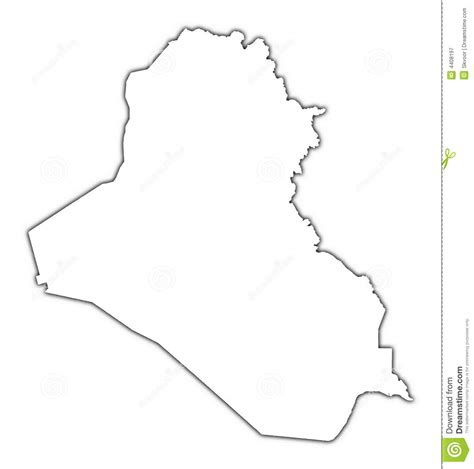 Iraq Outline Map Royalty Free Stock Photography Image