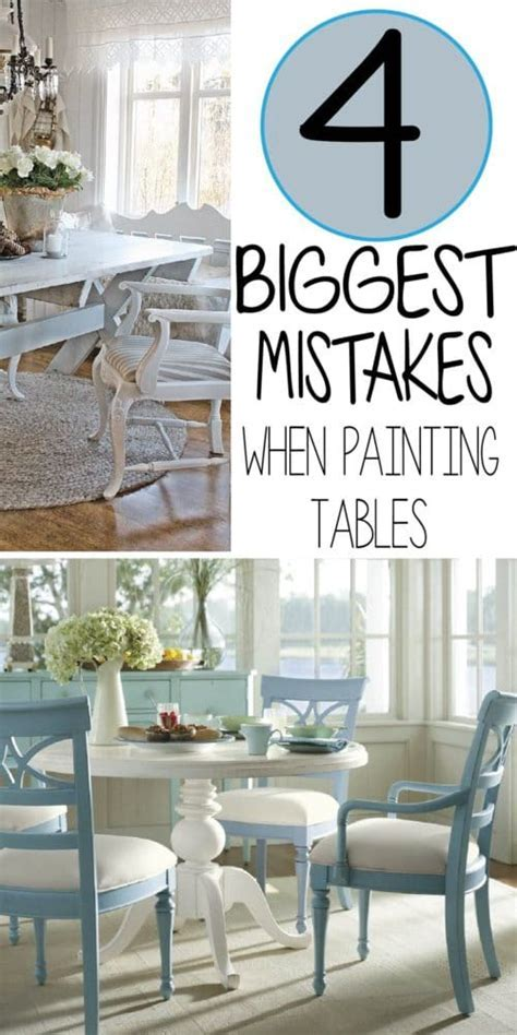 The 5 Mistakes People Make While Painting A Kitchen Table