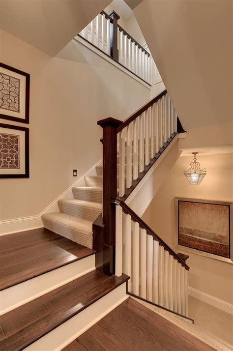 mission style wall the craftsman style staircase