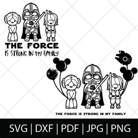 Force is Strong in my Family Star Wars Svg Star Wars Shirt ...