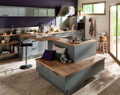 cuisine 12m2 ilot central cuisine îlot central 12 photos de cuisinistes côté maison